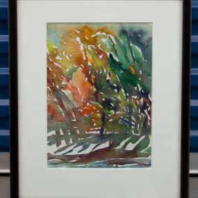 Watercolour Forest Painting artwork